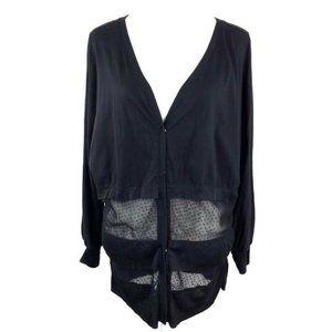 Miilla Stitch Fix V Neck Sheer Net Cardigan ®